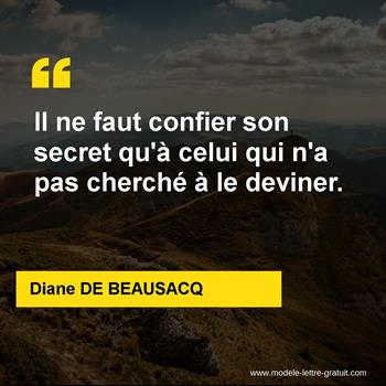 Citations Diane DE BEAUSACQ