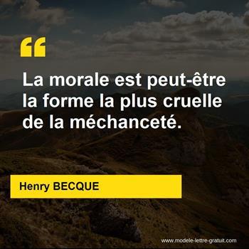 Citations Henry BECQUE