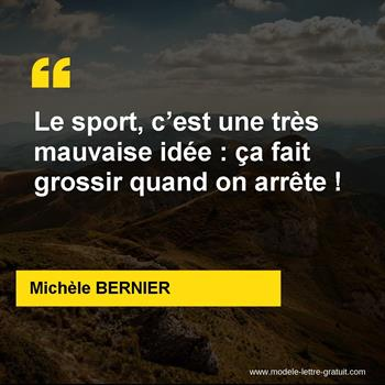 Citations Michèle BERNIER