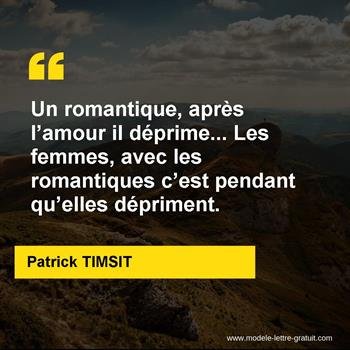 Citations Patrick TIMSIT