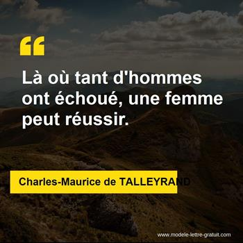 Citations Charles-Maurice de TALLEYRAND