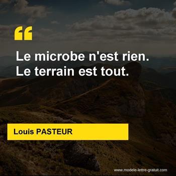 Citations Louis PASTEUR