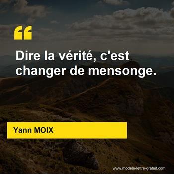 Citations Yann MOIX
