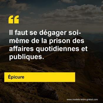 Citations Épicure