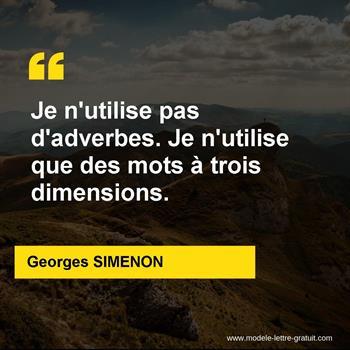 Citations Georges SIMENON