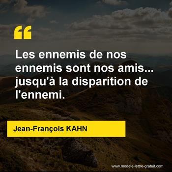 Citations Jean-François KAHN