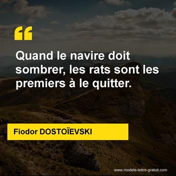 Citations Fiodor DOSTOÏEVSKI