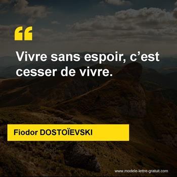 Citations Fiodor DOSTOÏEVSKI