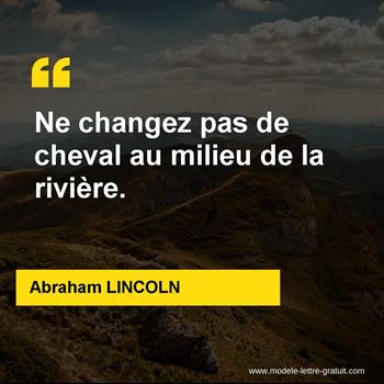 Citations Abraham LINCOLN
