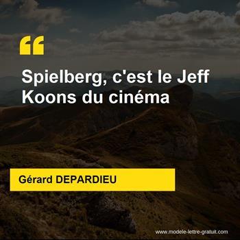 Citations Gérard DEPARDIEU