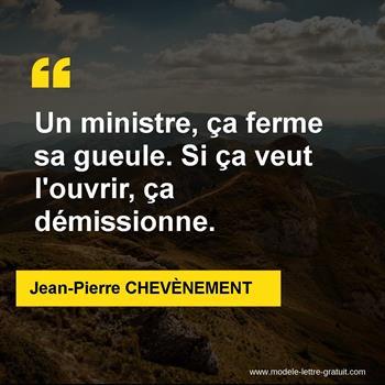 Citations Jean-Pierre CHEVÈNEMENT