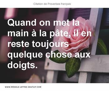Citation de Proverbes français
