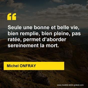 Citations Michel ONFRAY