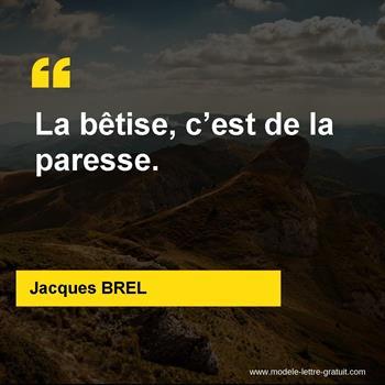 Citations Jacques BREL
