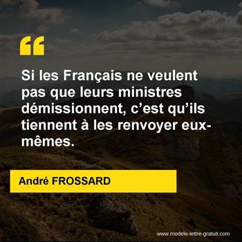 Citations André FROSSARD