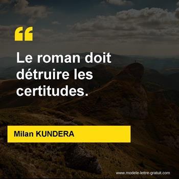 Citations Milan KUNDERA