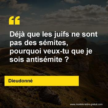 Citations Dieudonné