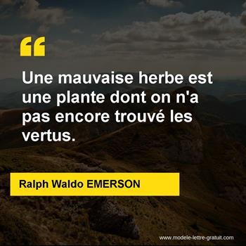 Citations Ralph Waldo EMERSON