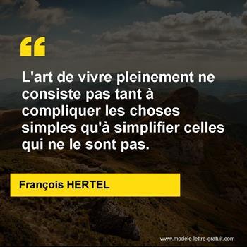 Citations François HERTEL