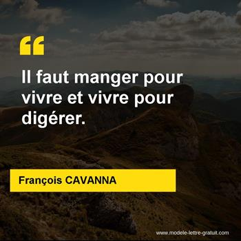 Citations François CAVANNA