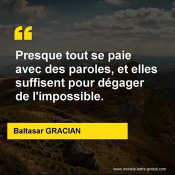 Citations Baltasar GRACIAN