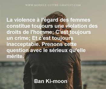 Citation de Ban Ki-moon