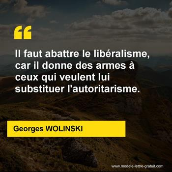 Citations Georges WOLINSKI