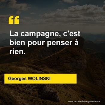Citations Georges WOLINSKI