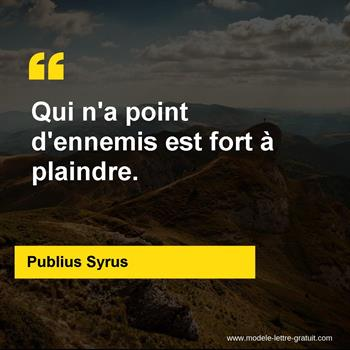 Citations Publius Syrus