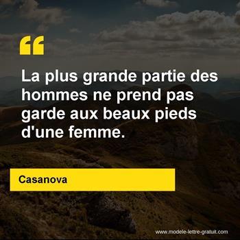 Citation de Casanova