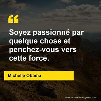 Citation de Michelle Obama