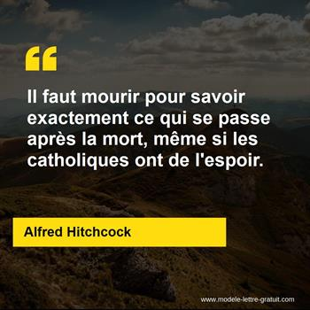 Citations Alfred Hitchcock