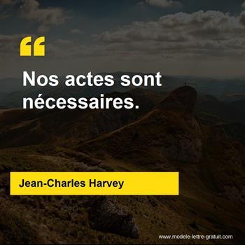 Citations Jean-Charles Harvey