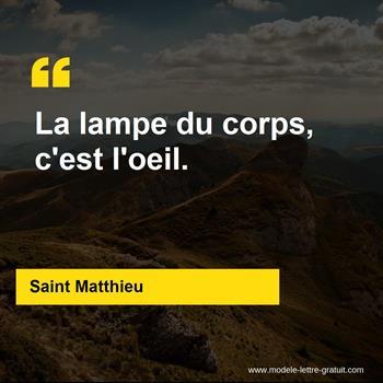 Citations Saint Matthieu