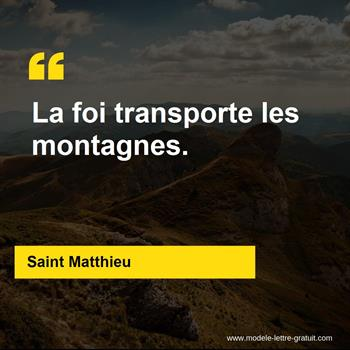 Citations Saint Matthieu