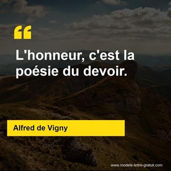 Citations Alfred de Vigny