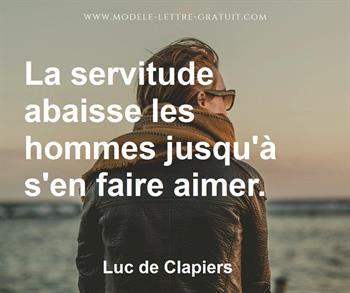Citation de Luc de Clapiers