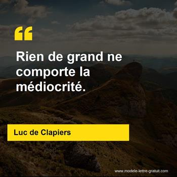 Citation de Luc de Clapiers