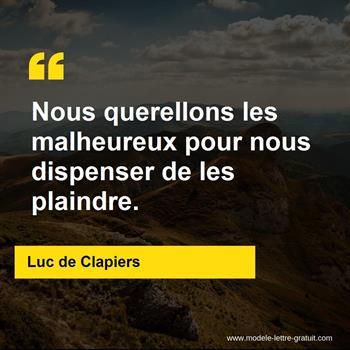 Citations Luc de Clapiers