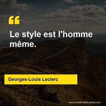 Citations Georges-Louis Leclerc