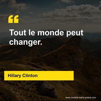 Citations Hillary Clinton
