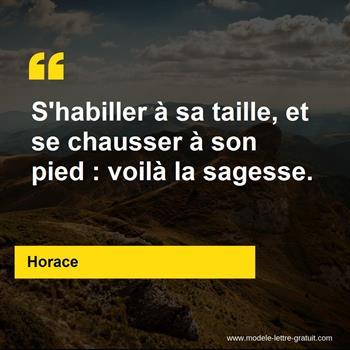 Citations Horace